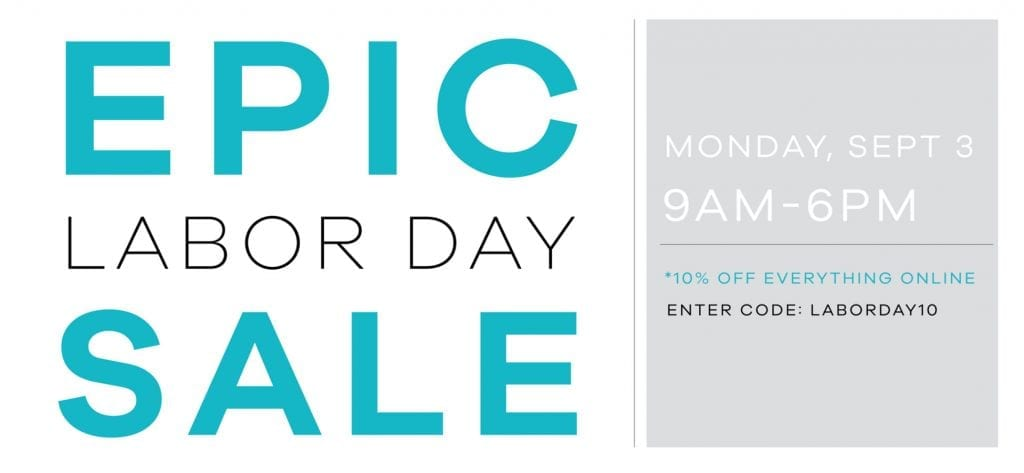 Epic Labor Day Sale Slider 2018